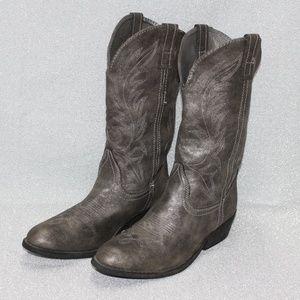 Rampage Walden Silver Women's Cowboy Boots